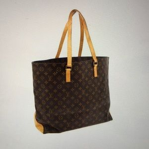 LOUIS VUITTON CABAS ALTO Tan Monogram Shoulder Bag